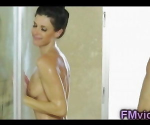 porn India Summer awesome shower 5 min, India Summer , milf , brunette  massage