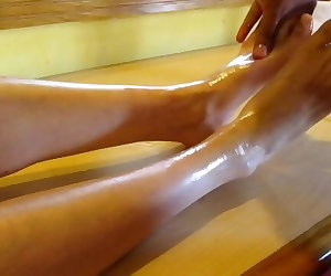 porn Massaging my feet with oil tickles me bdsm