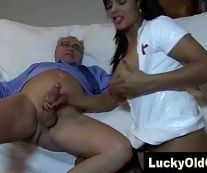 porn old man fucks Indian girl in sexy.., doggystyle