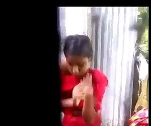 porn Desi village girl changing dres after.., shower  voyeur
